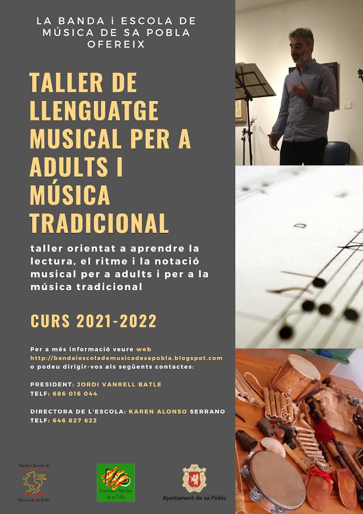 Taller de Llenguatge Musical per a Adults i Música Tradicional 2021-2022